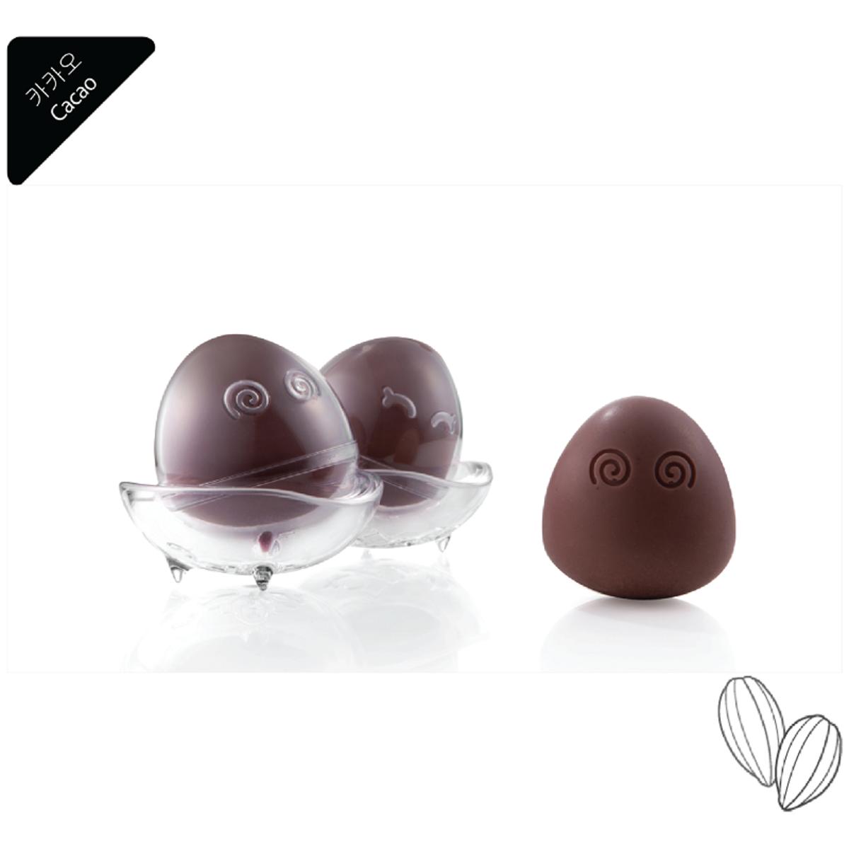荷蘭可可 天然有機潔面皂-1件蛋形套裝