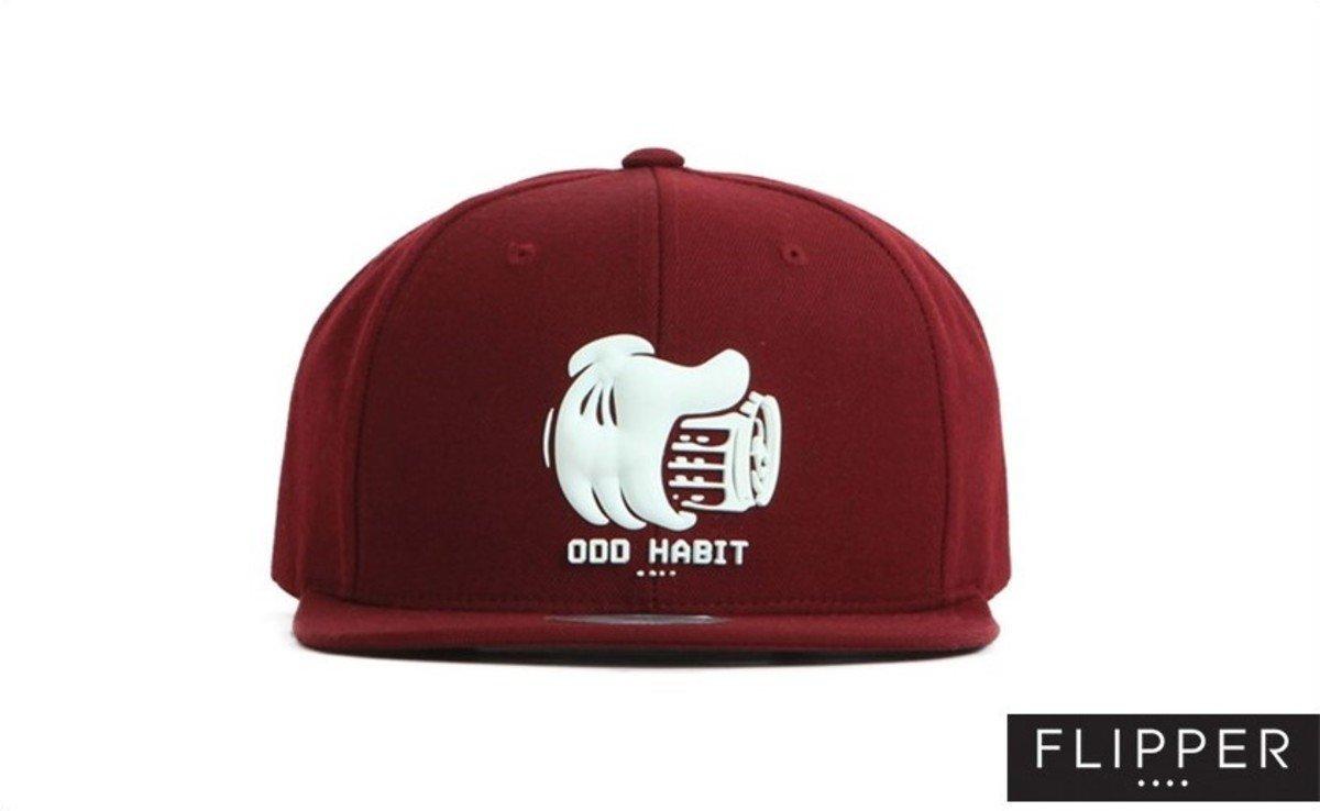 Flipper 系列棒球帽_Beerhand (酒紅色)