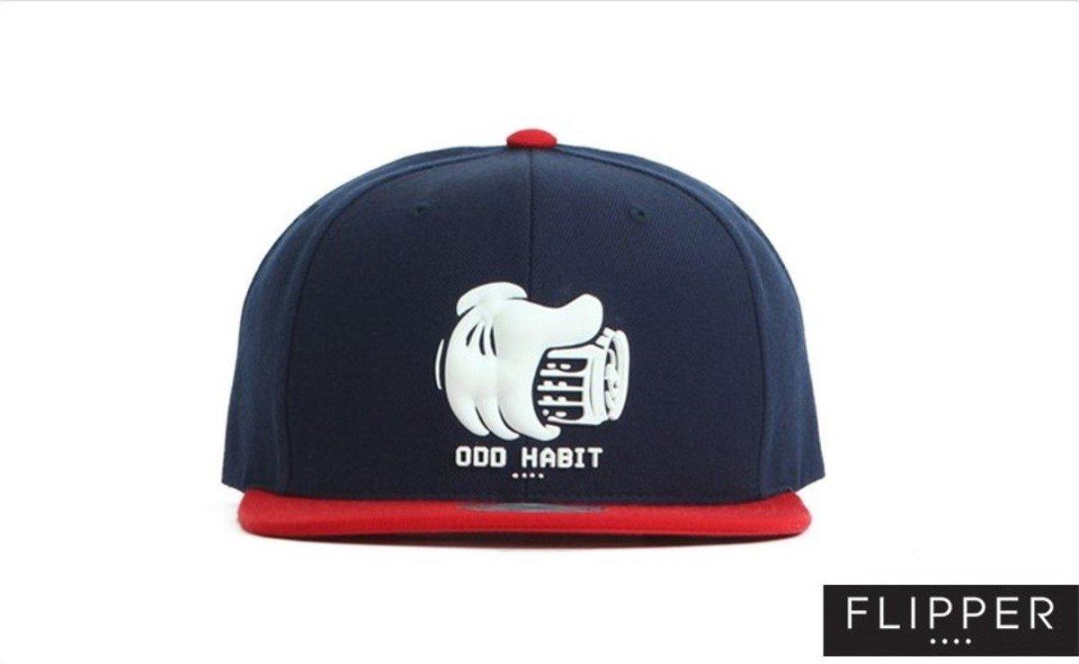 Flipper 系列棒球帽_Beerhand (軍藍色+紅色)