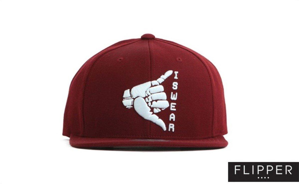 Flipper 系列棒球帽_Swear (酒紅色)