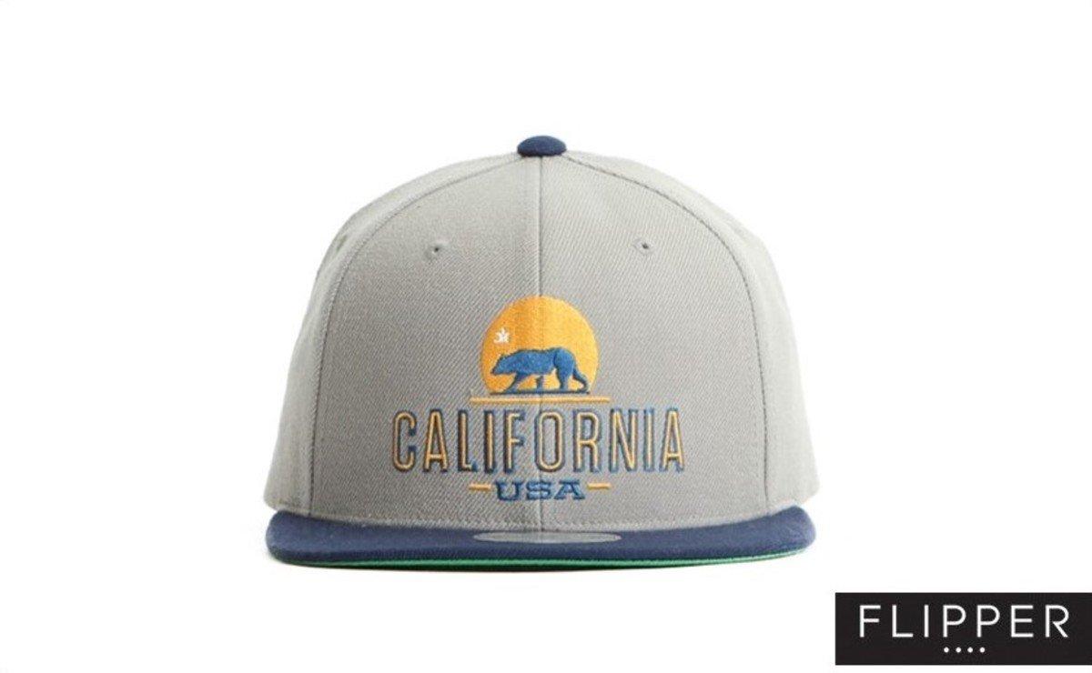 Flipper 系列棒球帽_California (灰色+軍藍色)