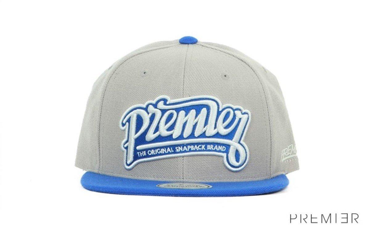 Premier 系列棒球帽_Premier (灰色+藍色)