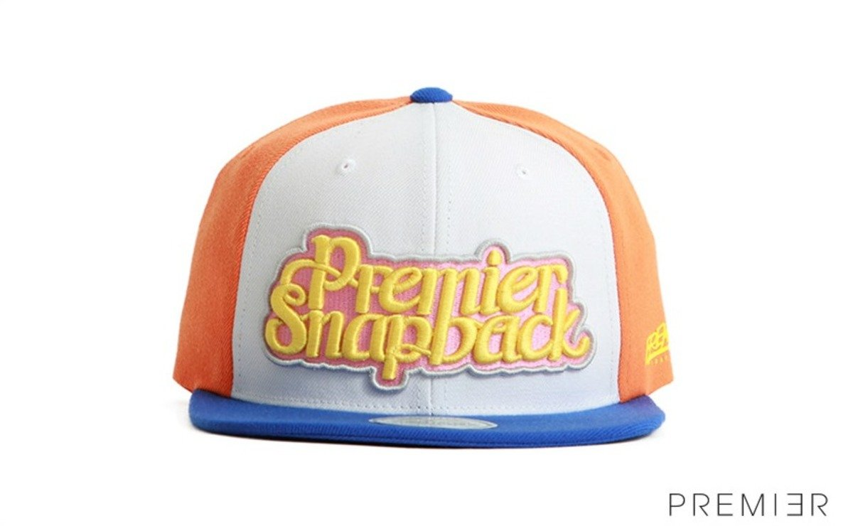 Premier 系列棒球帽_Premier Snapback (橙色+藍色)