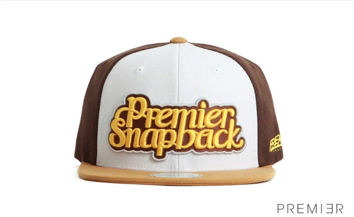 Premier 系列棒球帽_Premier Snapback (咖啡色+米色)