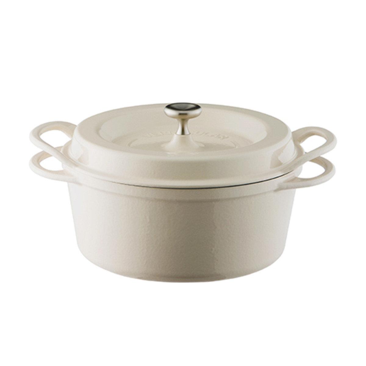 琺瑯鑄鐵圓鍋-米色
