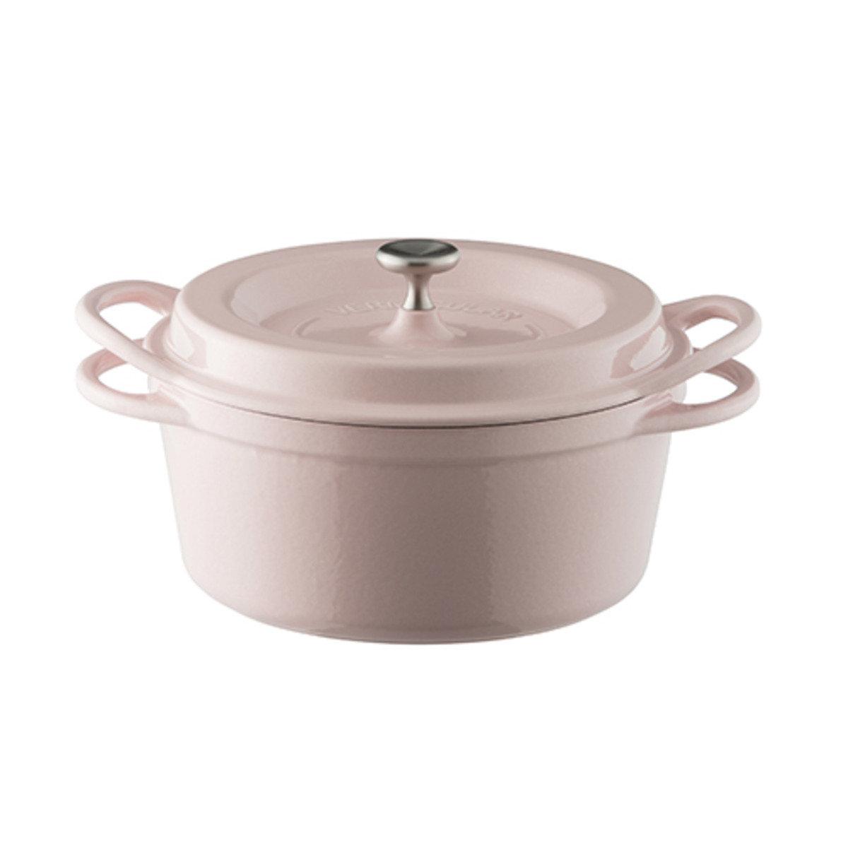 琺瑯鑄鐵圓鍋-粉紅色