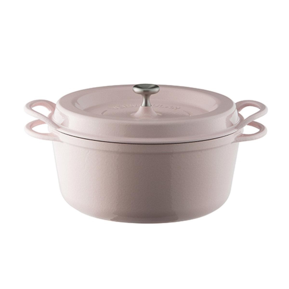 琺瑯鑄鐵鍋-粉紅色