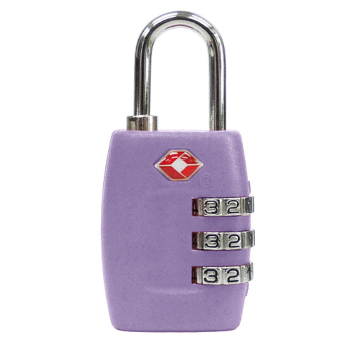 紫丁香色 TSA 海關鎖