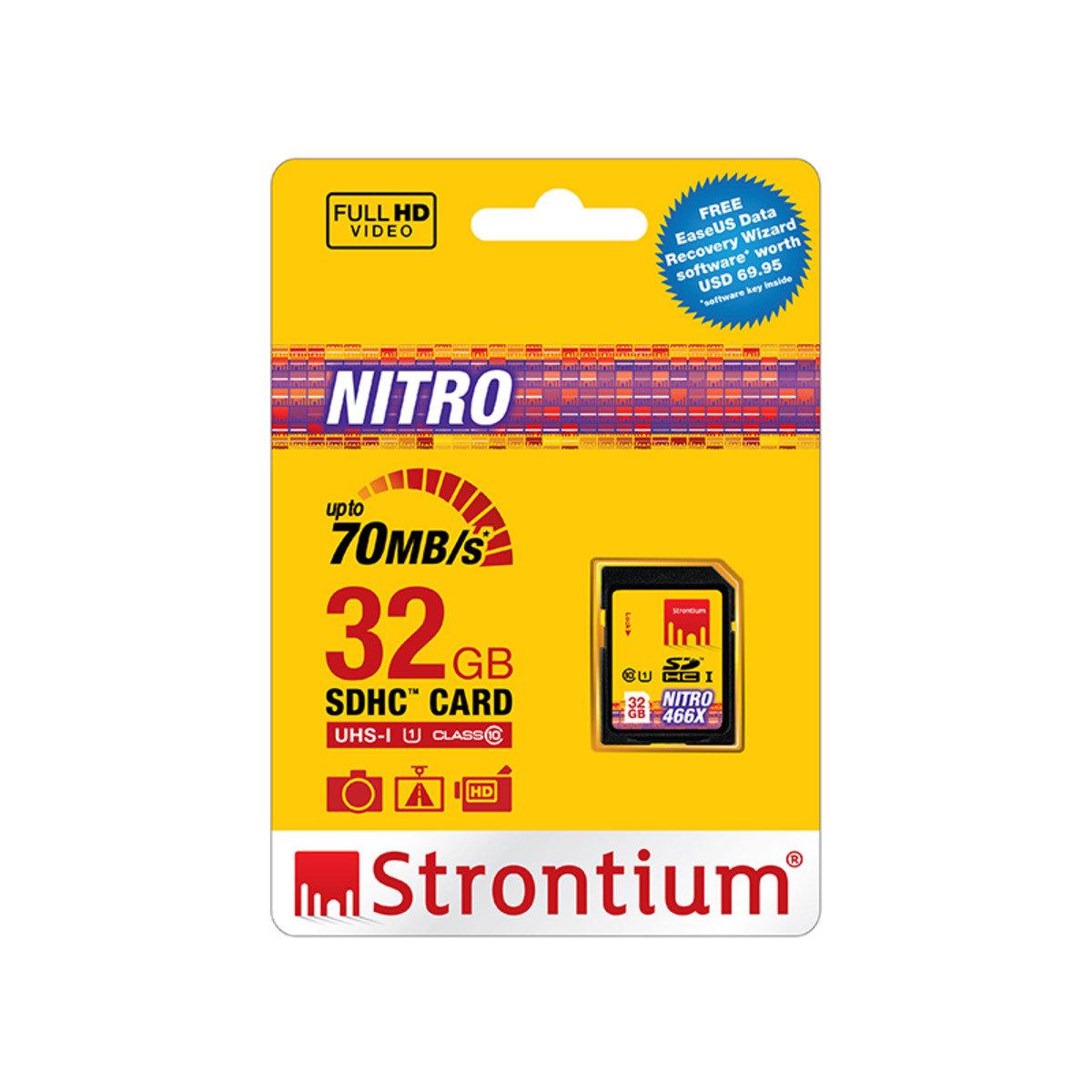 NITRO 32GB UHS-1 466x Class 10 70MB/s SD SDHC 高速記憶卡