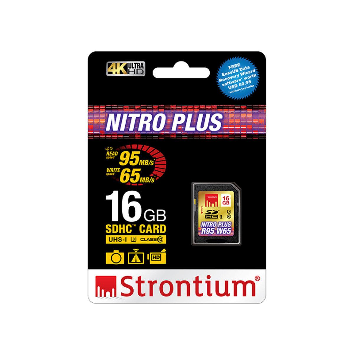 NITRO PLUS 16GB UHS-1 (U3) Class 10 SD SDHC 超高速4K專用記憶卡
