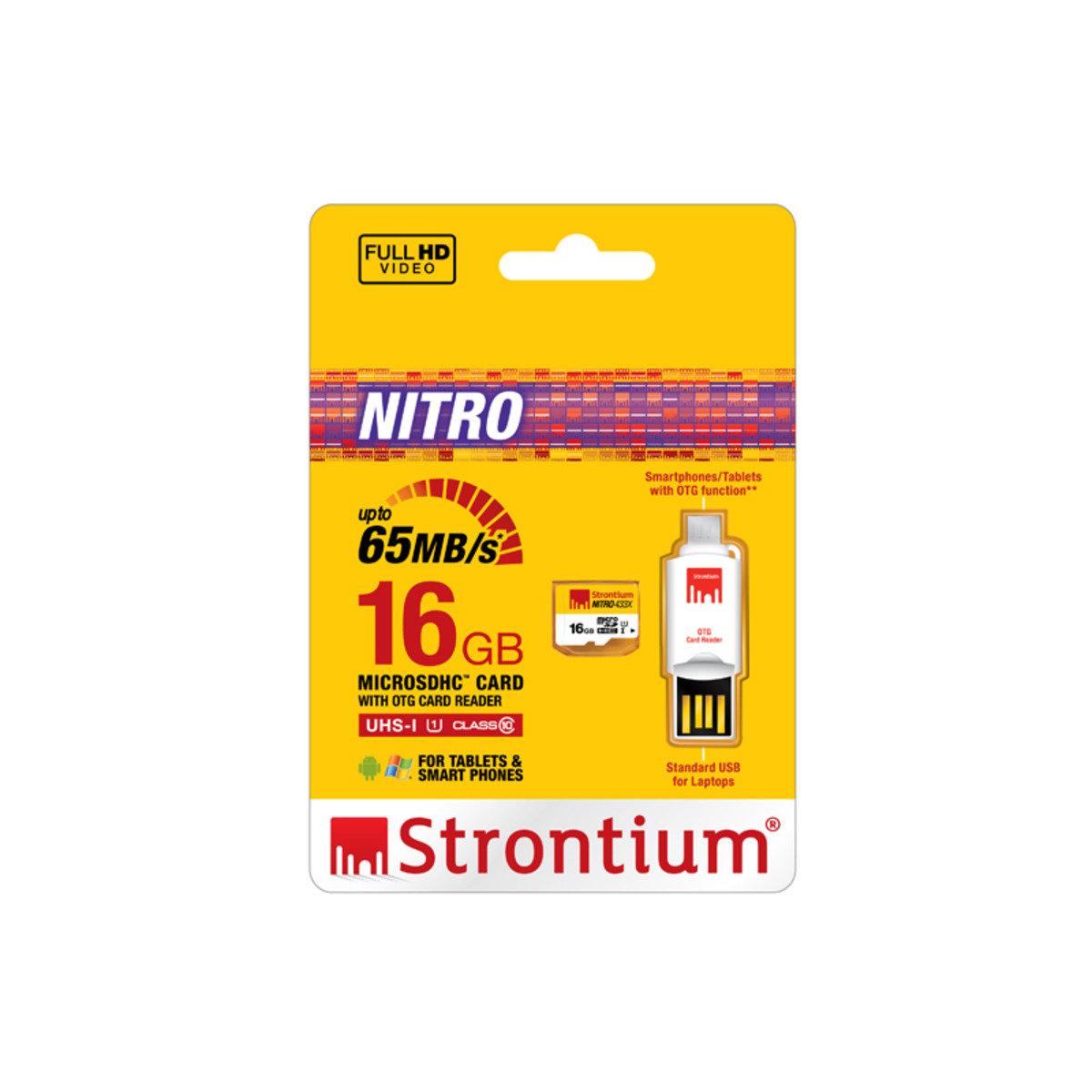 NITRO 16GB UHS-1 433x Class 10 65MB/s micro SD SDHC 高速記憶卡