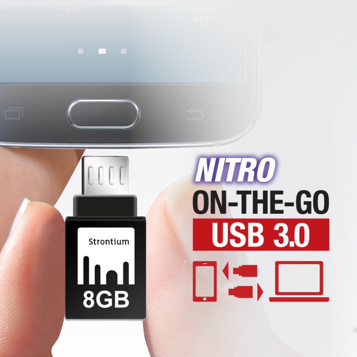 NITRO OTG 8GB USB 3.0 高速雙用隨身碟