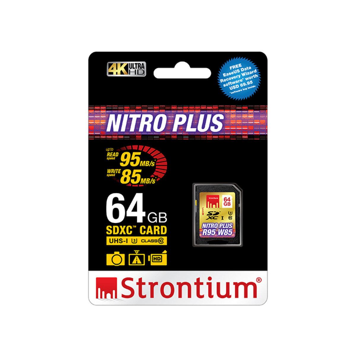 NITRO PLUS 64GB UHS-1 (U3) Class 10 SD SDXC 超高速4K專用記憶卡