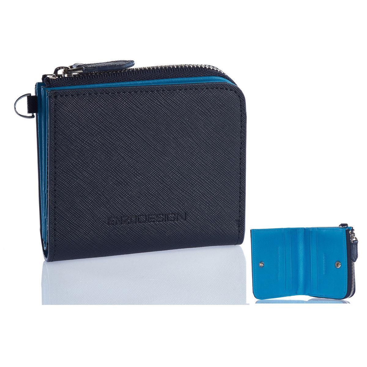 小形全真皮銀包(Saffiano Leather with Soccer boot leather inside)