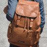 全皮 Unisex Backpack (Tan Color)