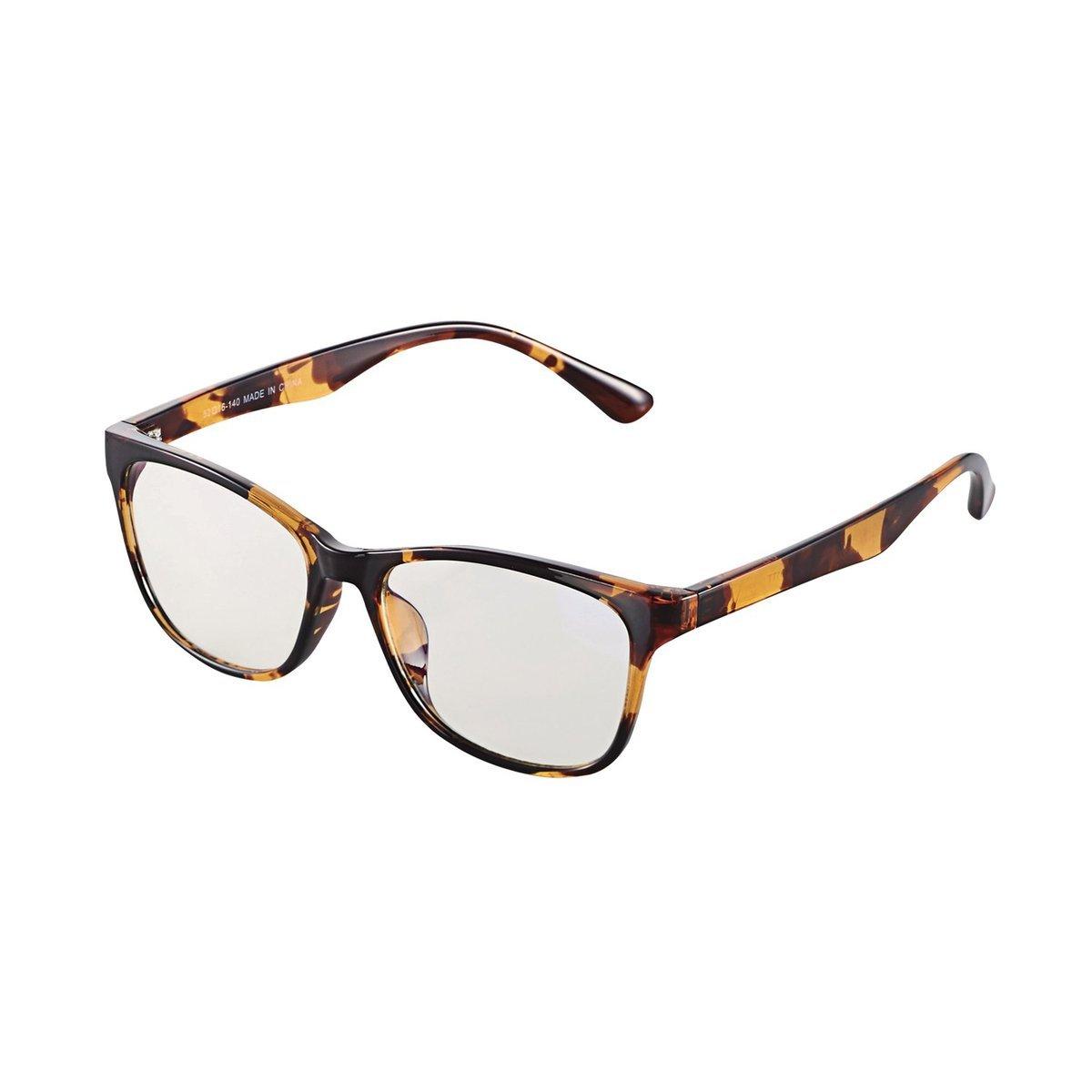 方框防藍光眼鏡(琥珀色)