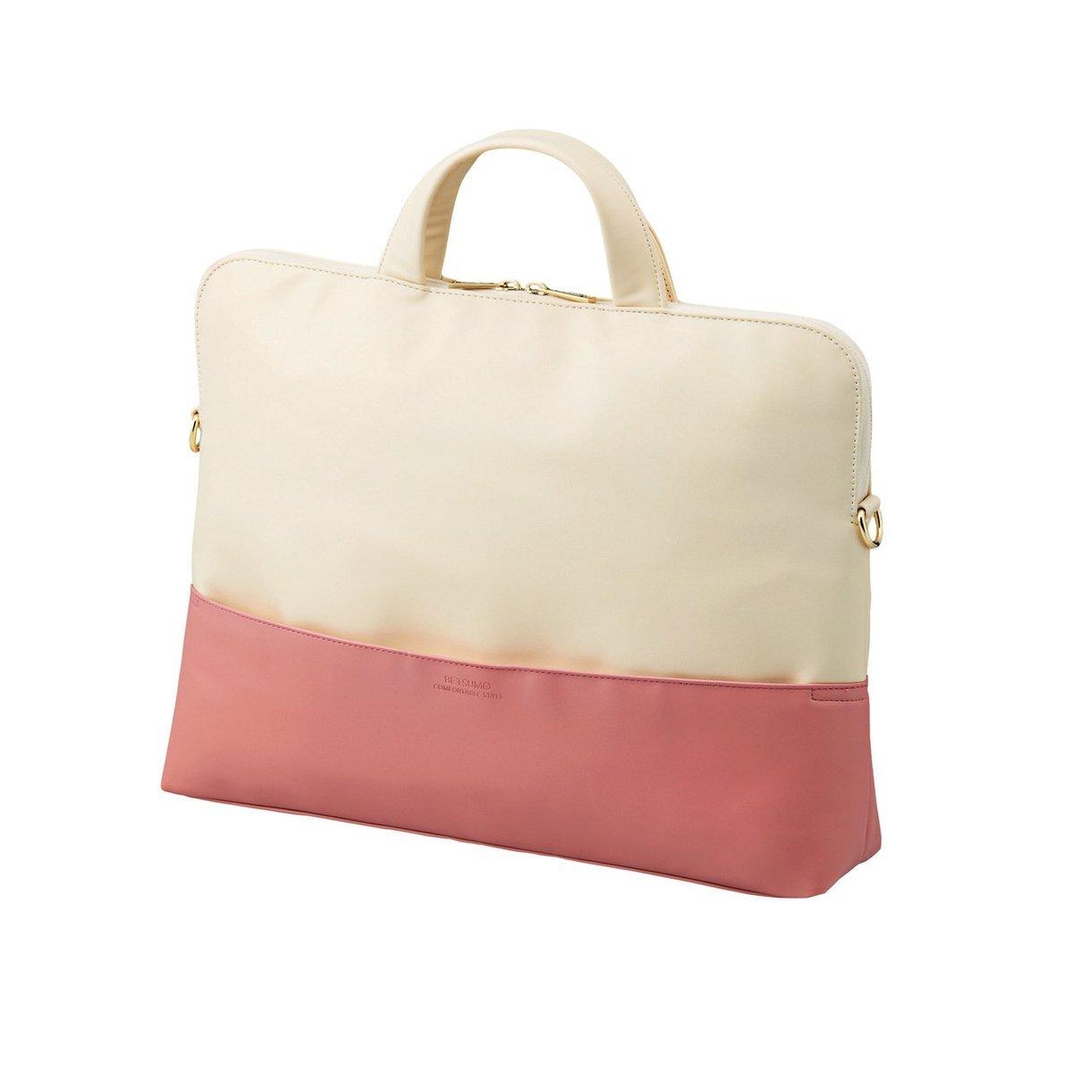 Betsumo 電腦公事包( 粉紅色x 白色- 適用於15.4吋電腦)