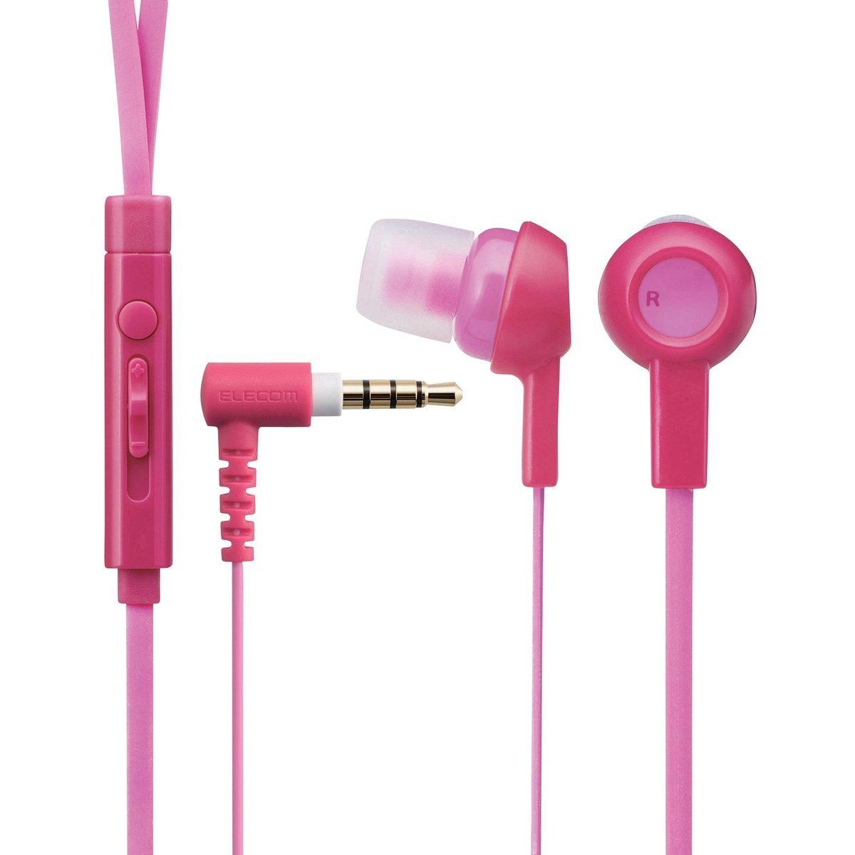 水果系列耳機 (連麥克風)(深粉紅色)