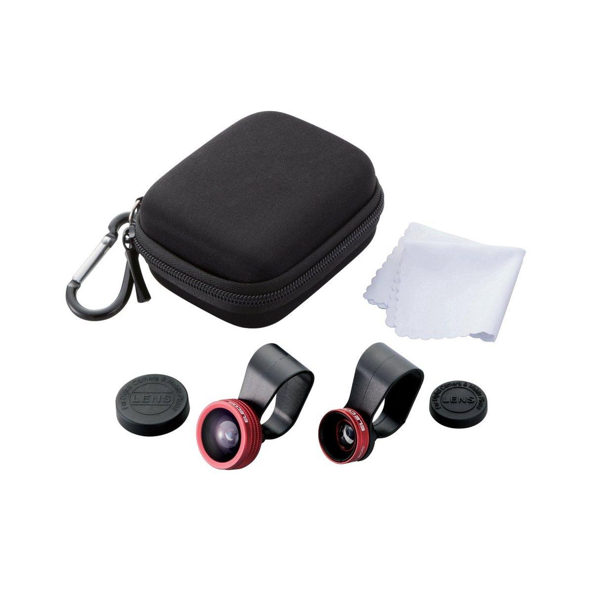 攜帶型三合一手機鏡頭 (紅色)