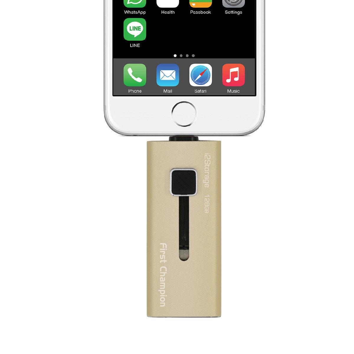 蘋果專用Lightning USB 3.0 隨身碟 i2S30-128GB
