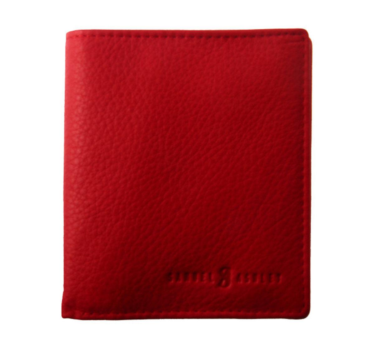 短身兩摺銀包- 紅