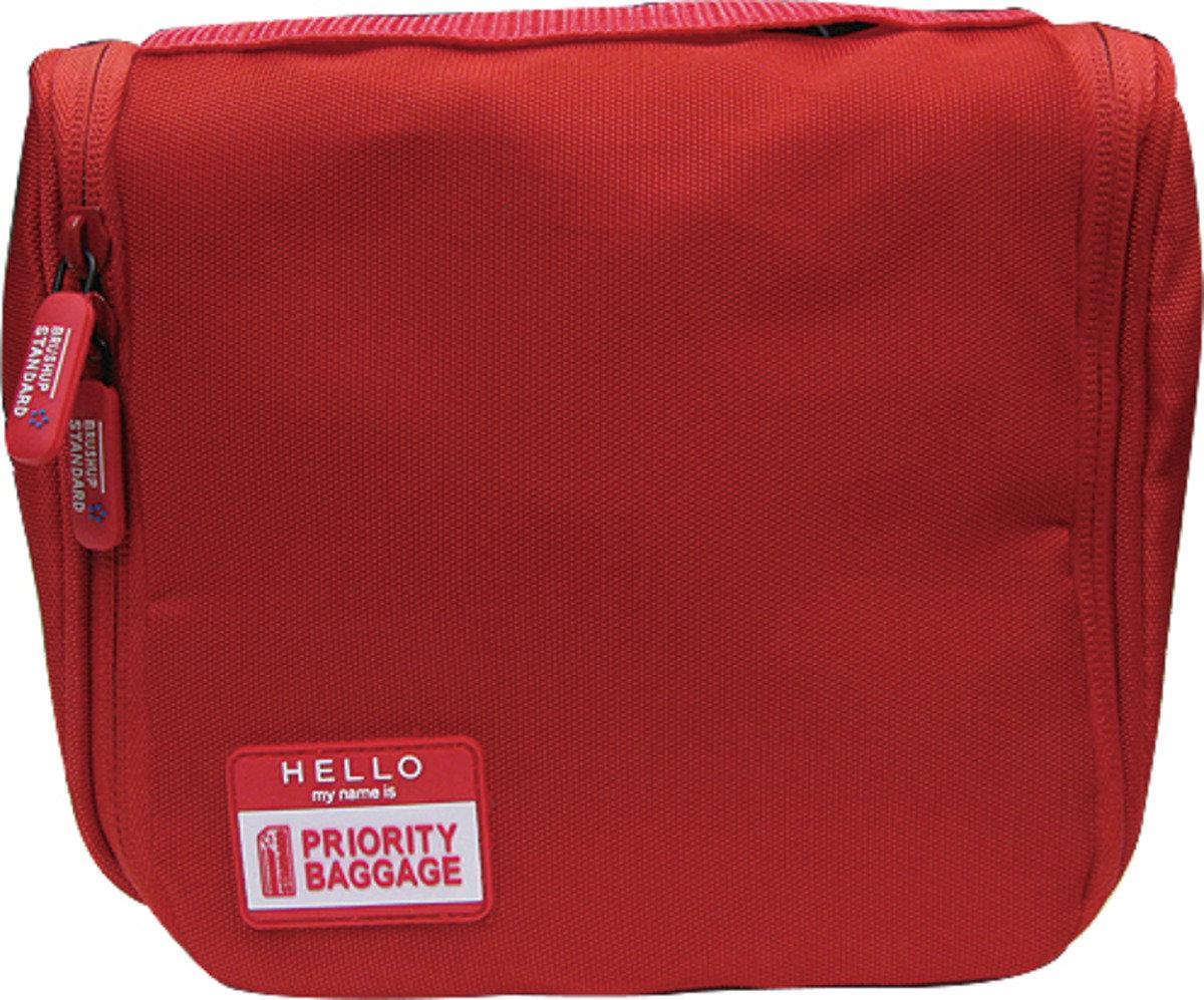洗面用品收納包 - 紅色