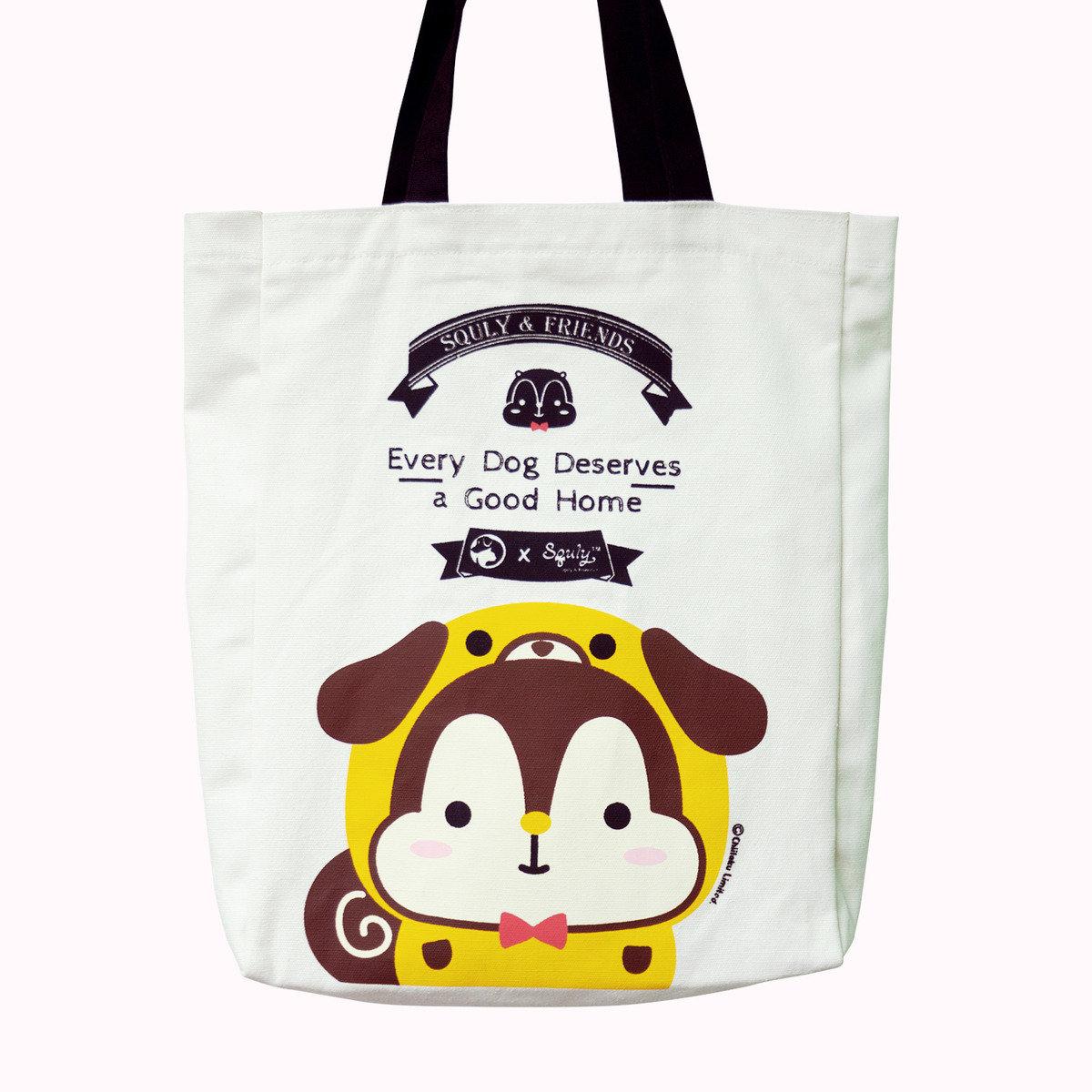 Squly 帆布手提袋(愛護動物協會特別版 - 狗仔)