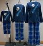 成人雙面搖粒絨睡衣套裝(藍色)