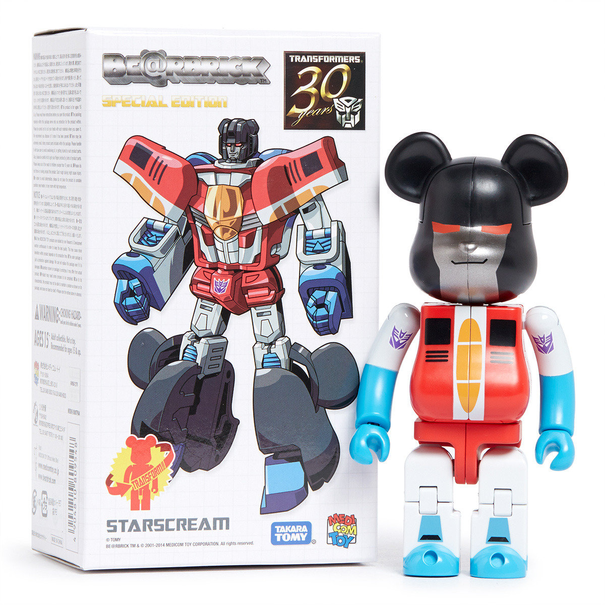 Be@rbrick x Transformers: STARSCREAM