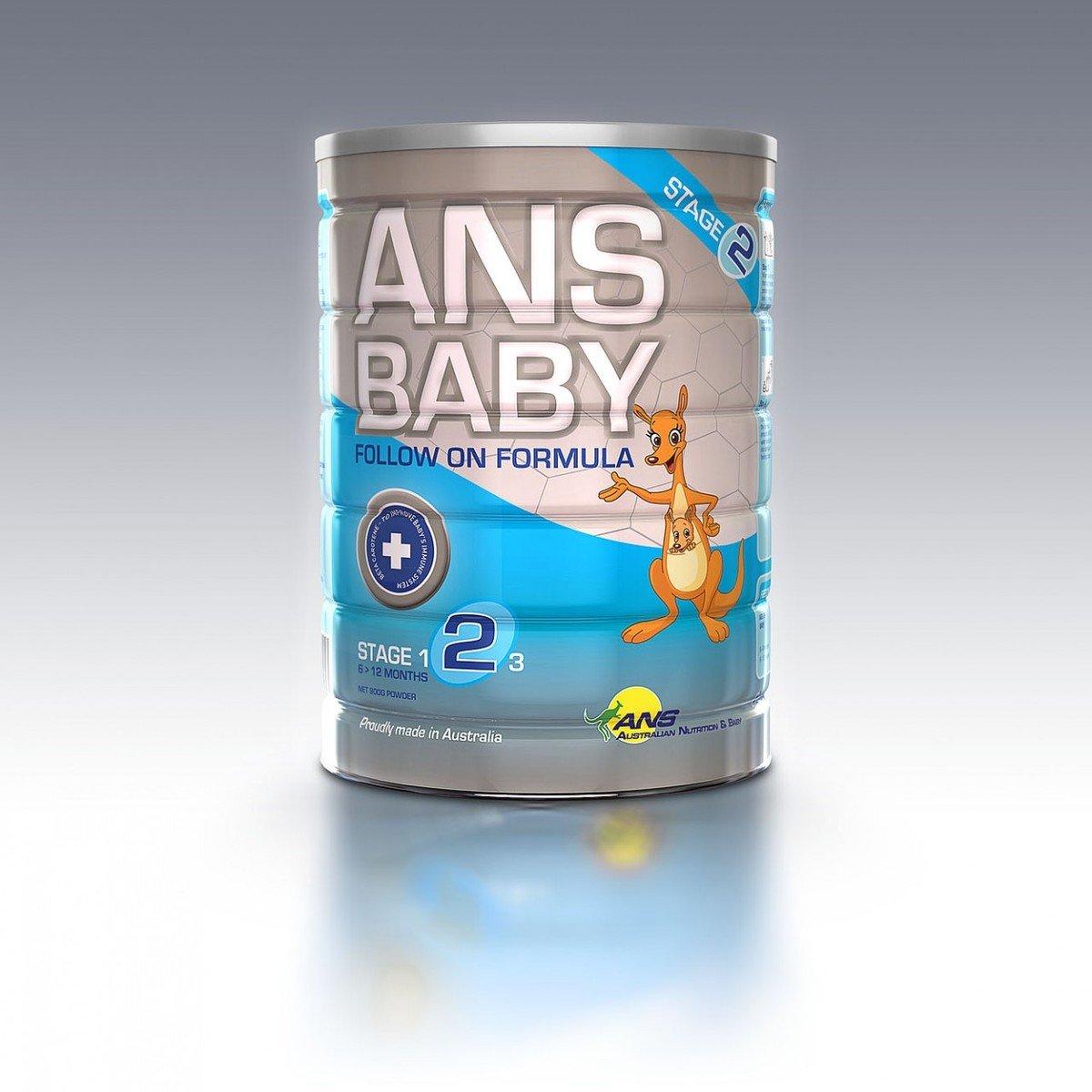 澳洲製造 ANS Baby 嬰兒配方奶粉-第二階段(適合6個月大至12個月大的嬰兒)