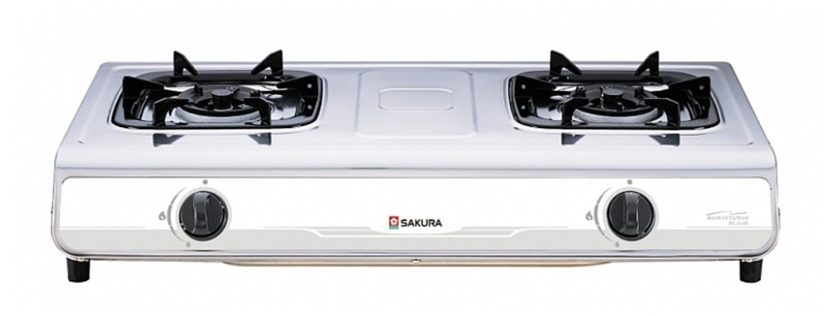 不銹鋼面雙頭座檯煮食爐(煤氣) (送價值$330標準安裝) SG-210S(T)