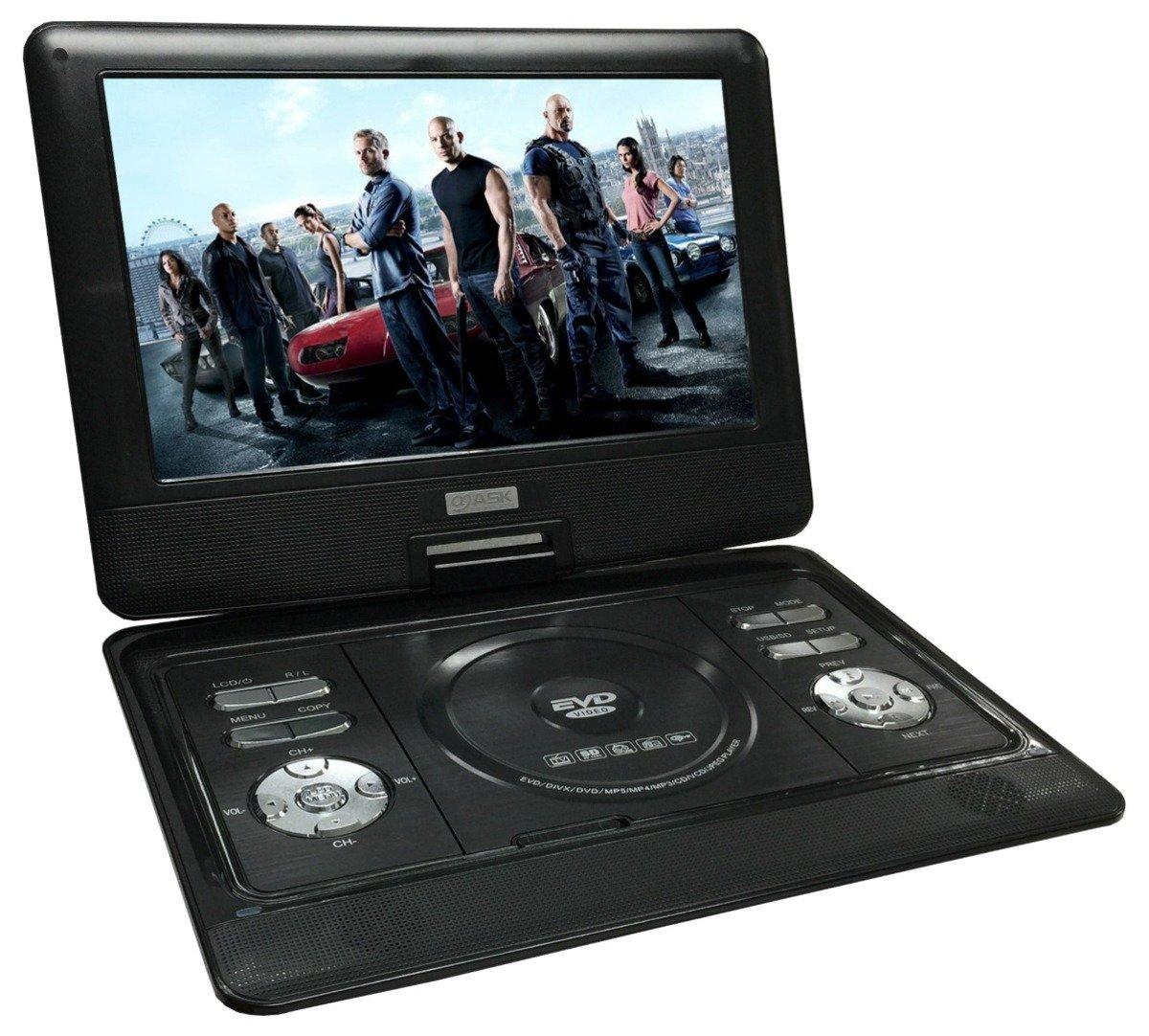 10.5寸高清多功能手提DVD 黑色 ASW0004
