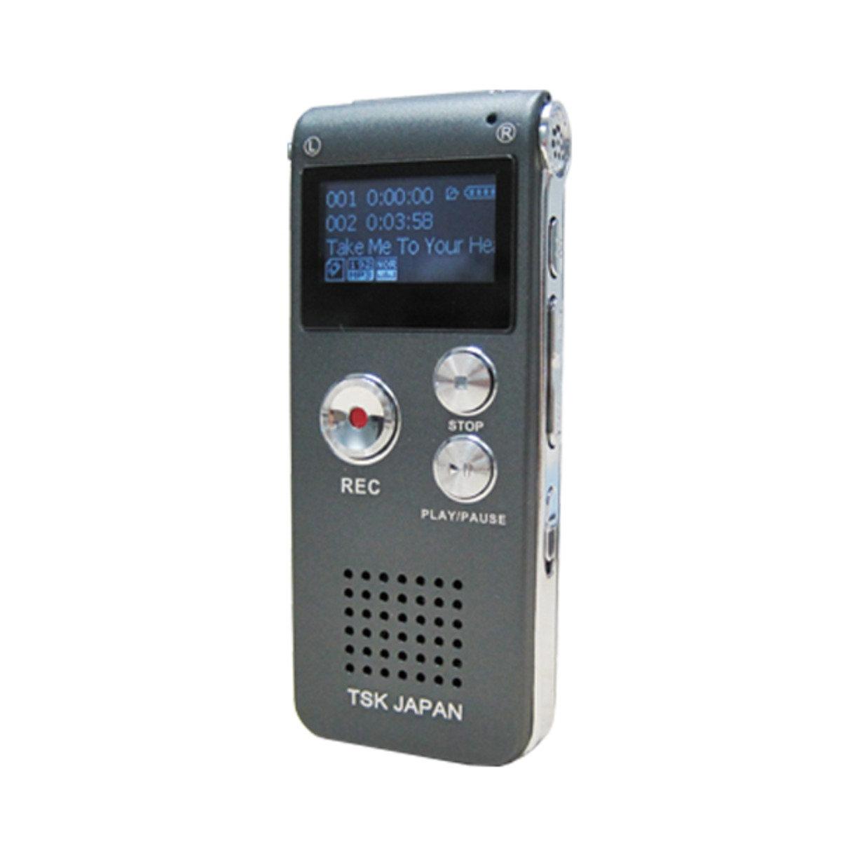 日本TSK 多功能數碼高清錄音機P1008 黑色 ASW0009