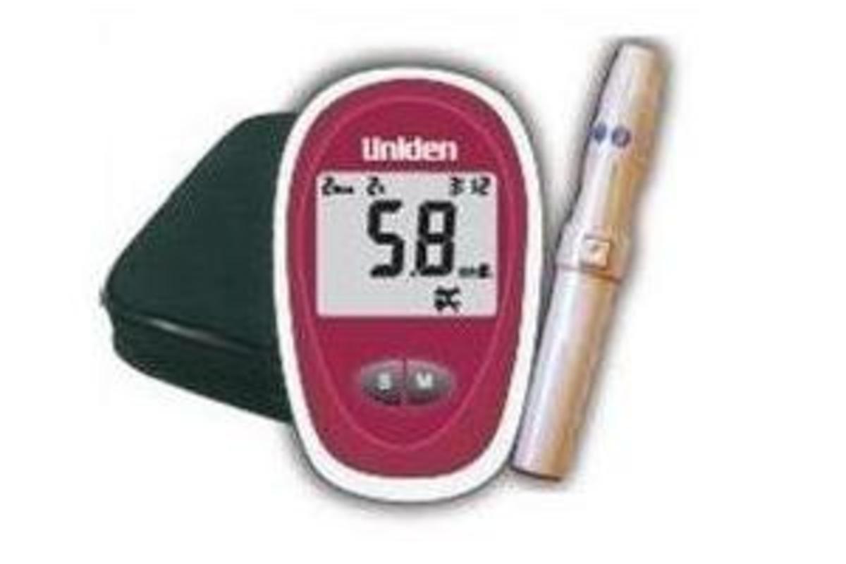 Uniden日本 血糖測試機連25套採血針和紙條 , AM2401 [加送50紙條套裝 (AMA401-ST),限10套]