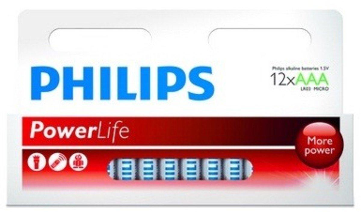 Philip 飛利浦 12粒3A鹼性電池, LR03P12B/97
