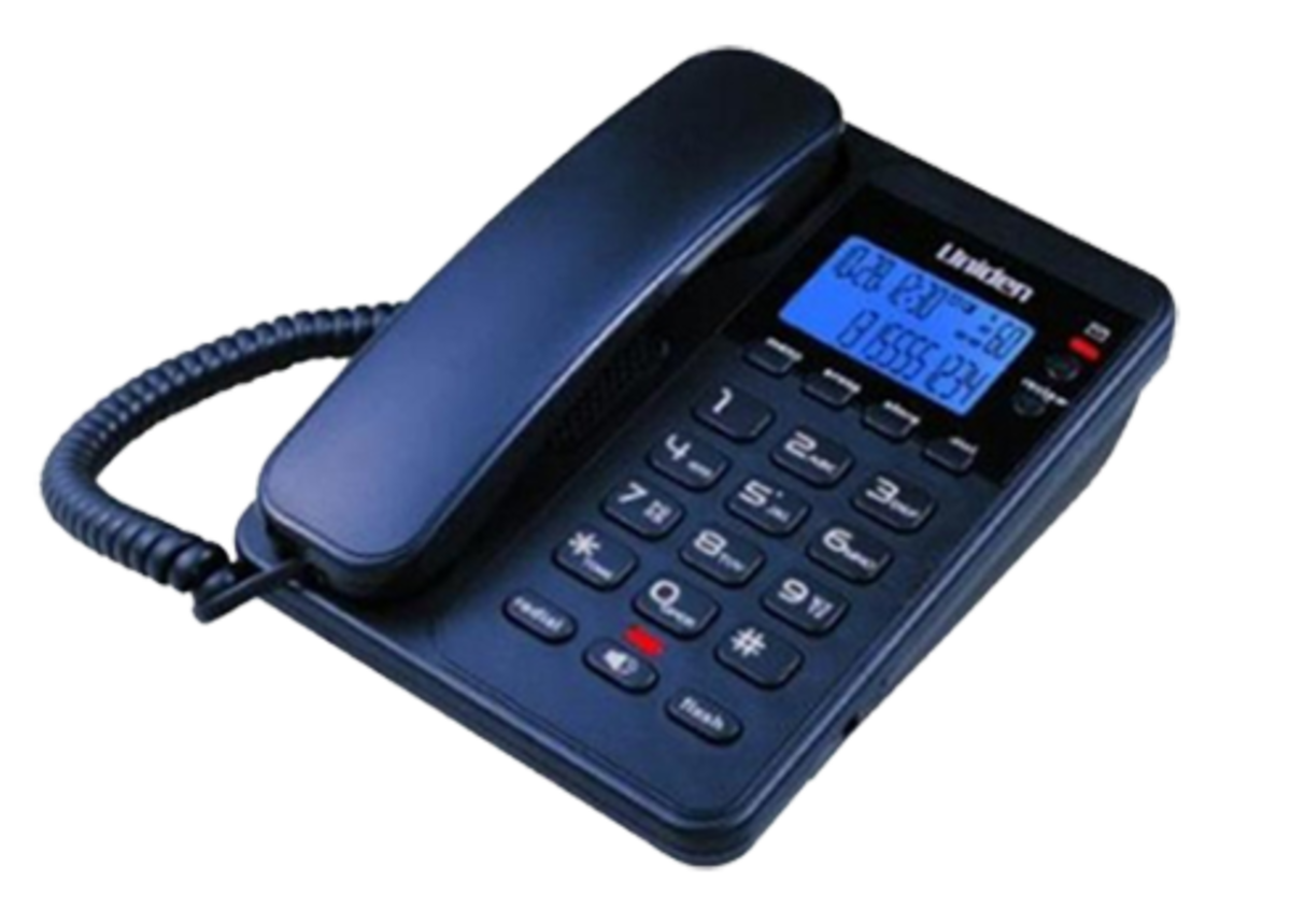 Uniden日本來電顯示免提有線電話, AS7404 藍色