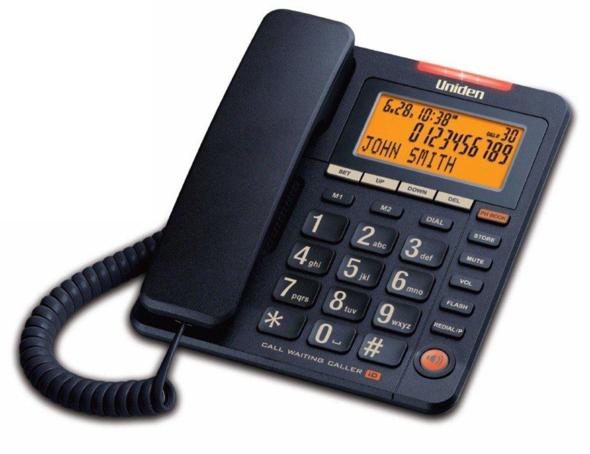 Uniden日本來電顯示免提有線電話, AS7409 黑色