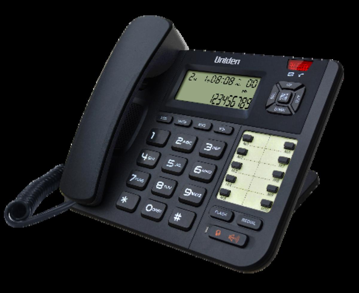 Uniden日本來電顯示免提有線電話, AT8401 黑色