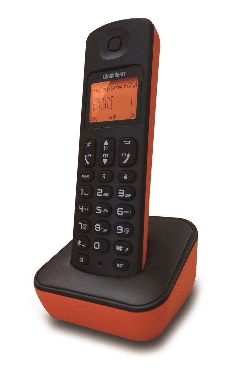 Uniden日本來電顯示免提室內數碼無線電話 , AT3100 橙色