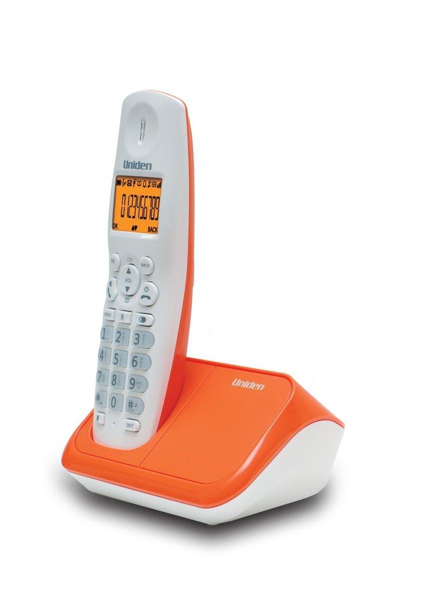 Uniden日本來電顯示免提室內數碼無線電話 , AT4101 橙白色