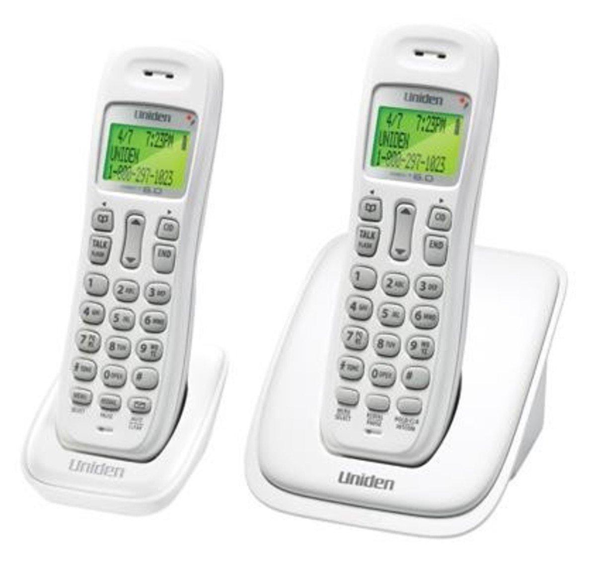 Uniden日本來電顯示室內數碼無線電話 , AS1001-2 白色