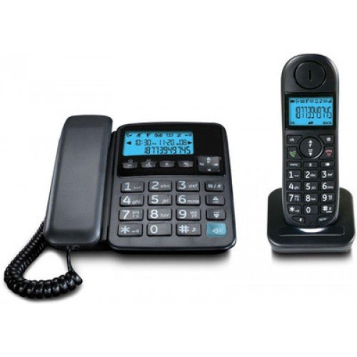 Uniden日本來電顯示免提室內數碼無線電話 , AT4501 黑色