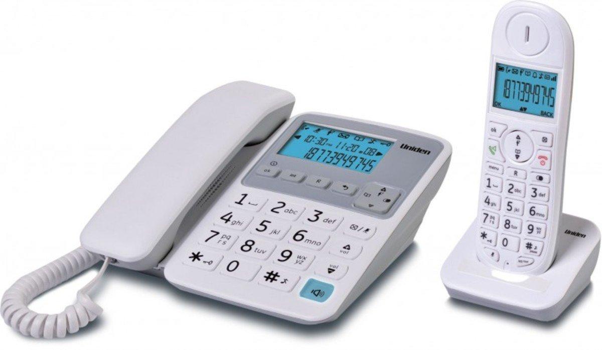 Uniden日本來電顯示免提室內數碼無線電話 , AT4501 白色