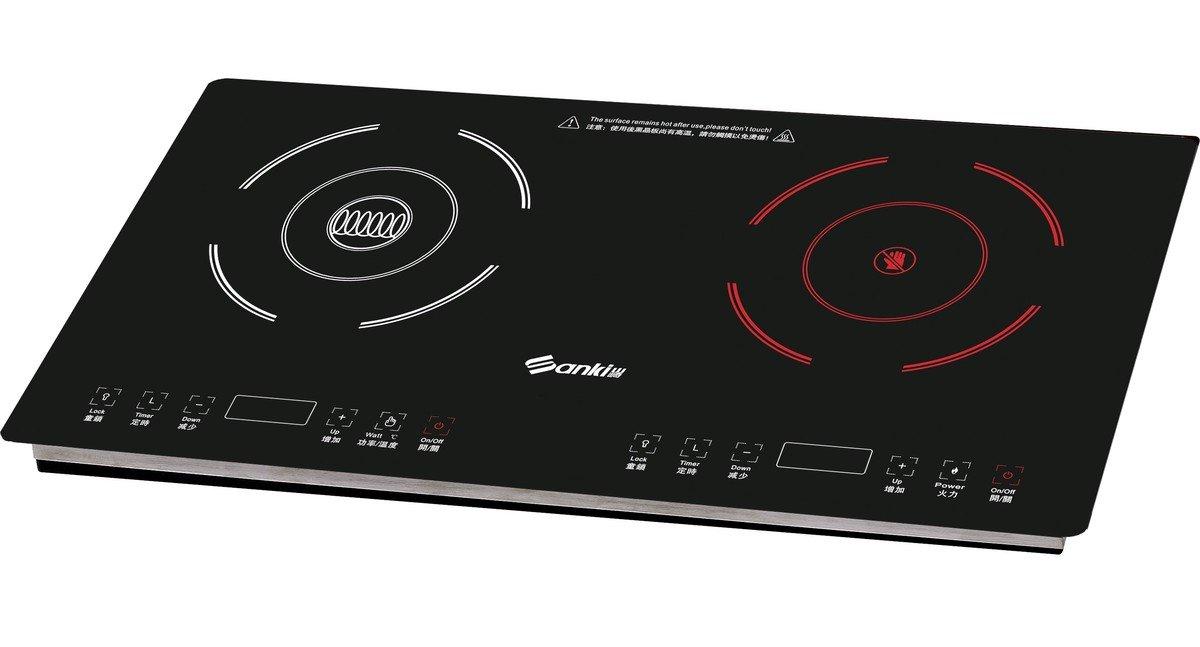 雙頭電磁電陶爐(嵌入式/座檯式) SK-CI2800