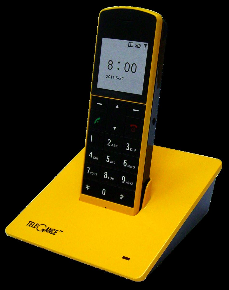 TELEGANCE 室內無線電話 DT910 (黃色)