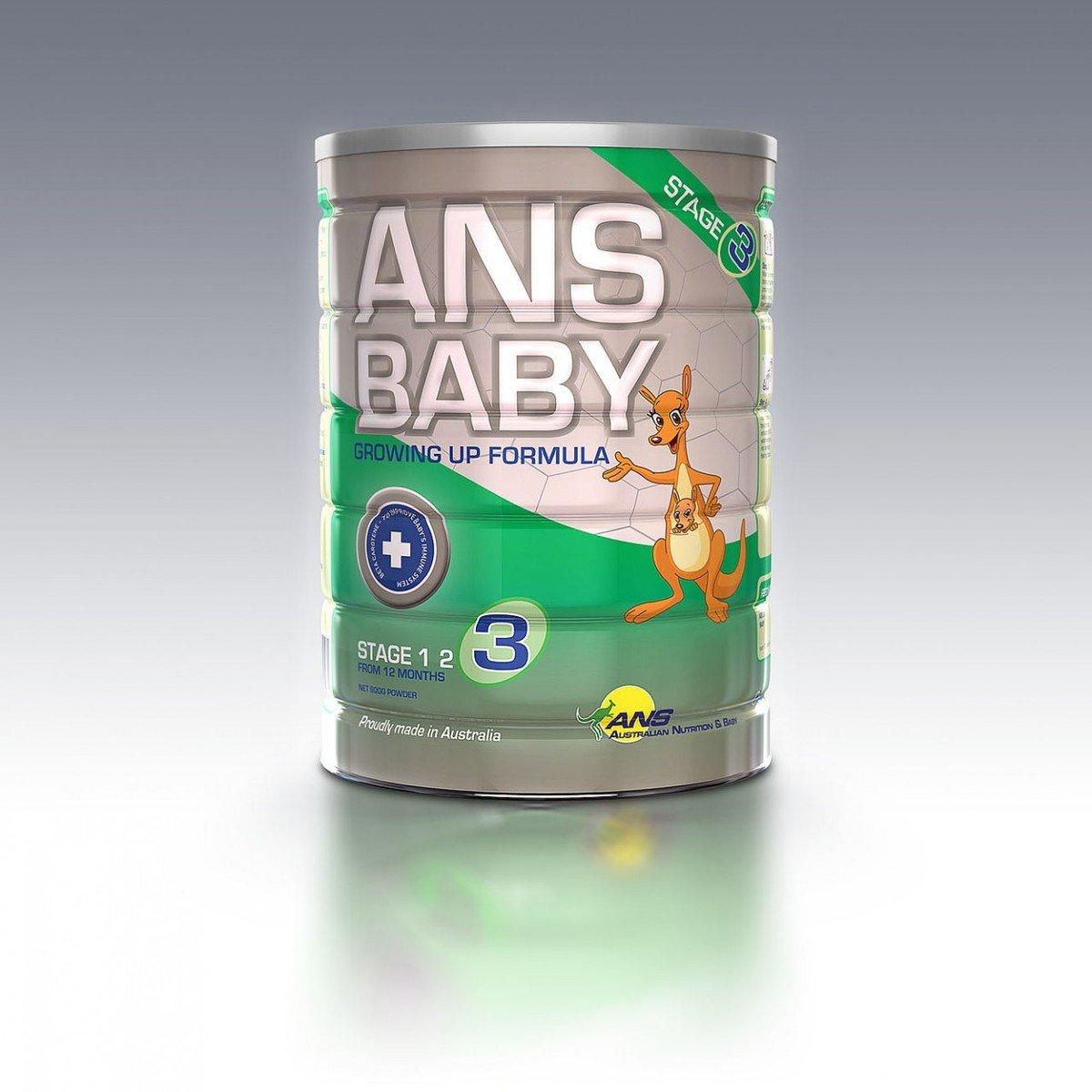 澳洲製造 ANS 嬰兒配方奶粉 – 第三階段 (適合12個月以上的嬰兒)