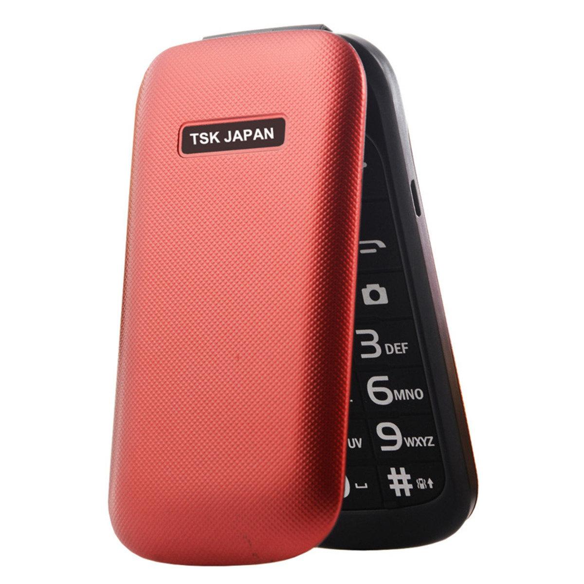 日本TSK A800折合式長者平安手機 紅色 SKU00O20