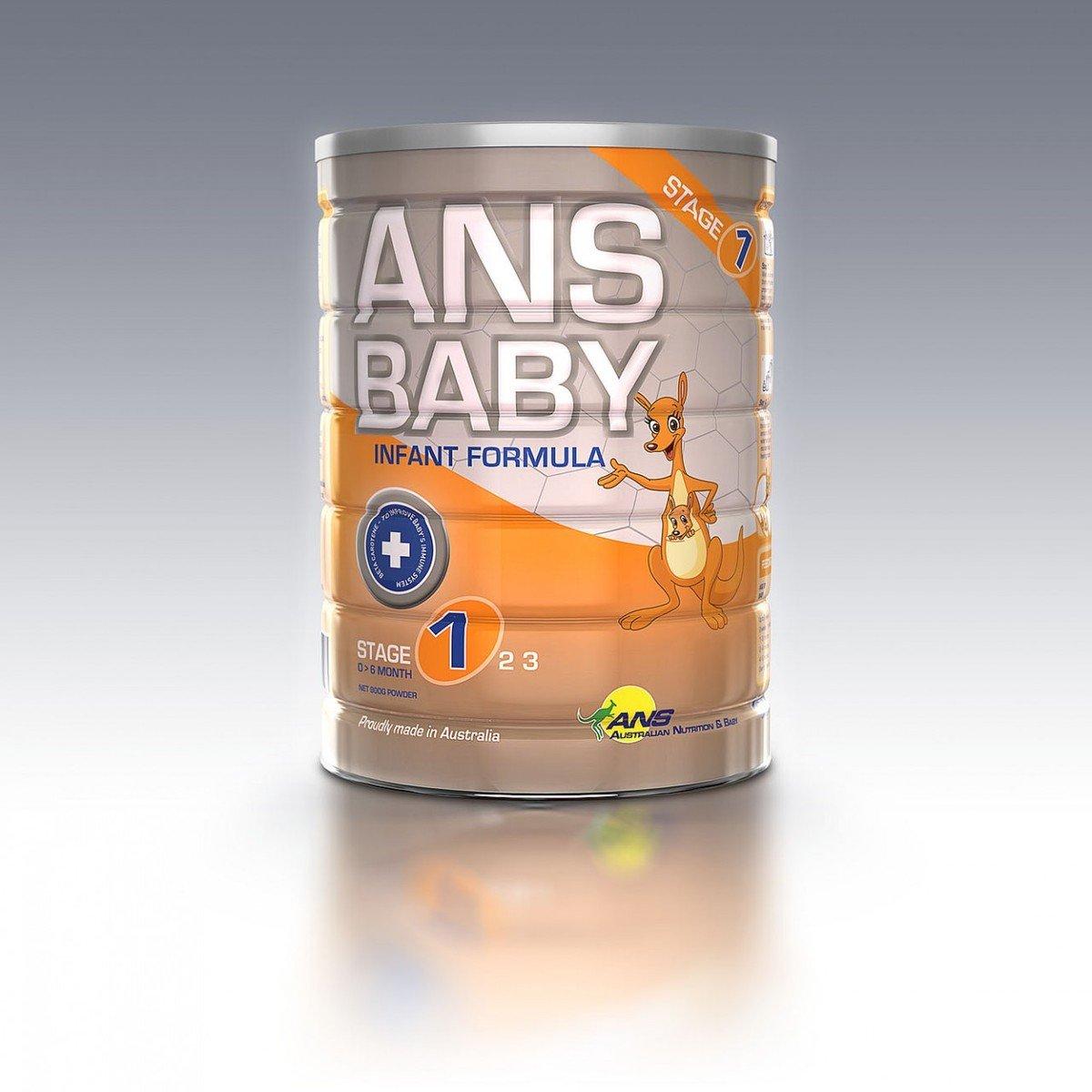 澳洲製造 ANS Baby 嬰兒配方奶粉-第一階段(適合初生到6個月大的嬰兒)