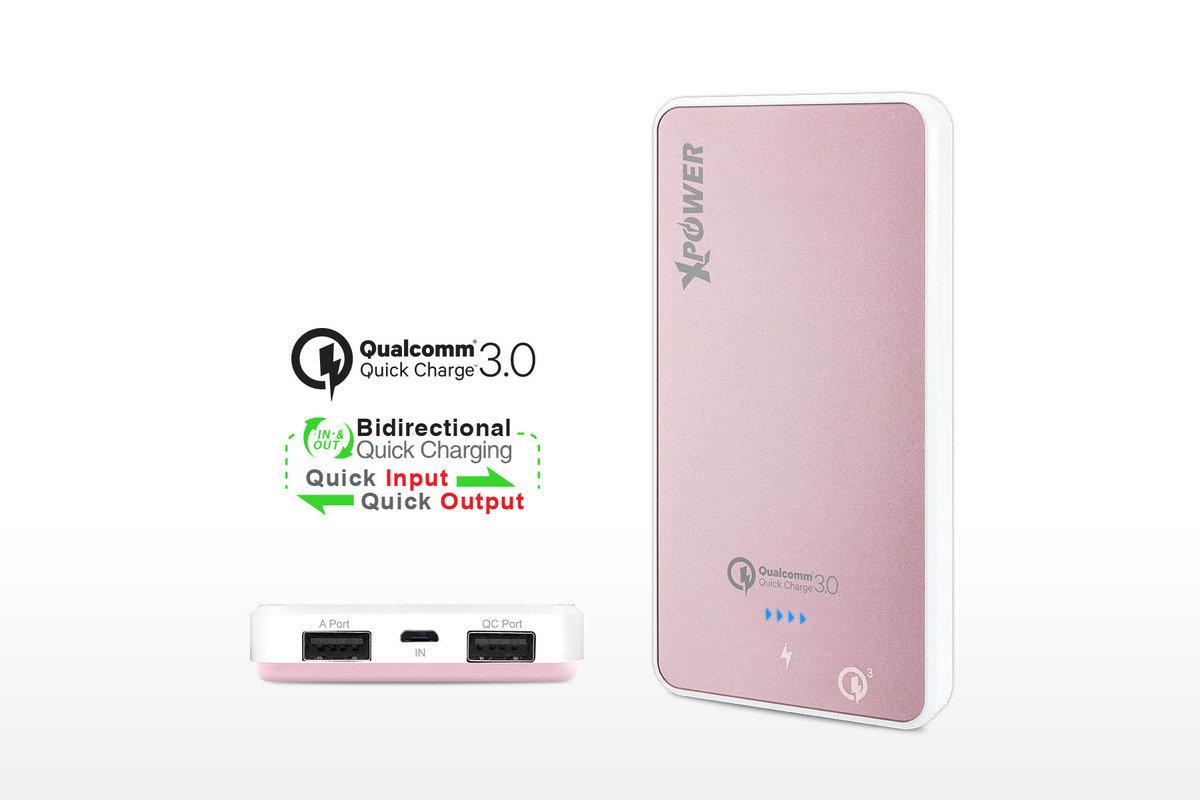 PB10Q 10000mAh 支援Qualcomm 3.0 外置電 - 粉紅