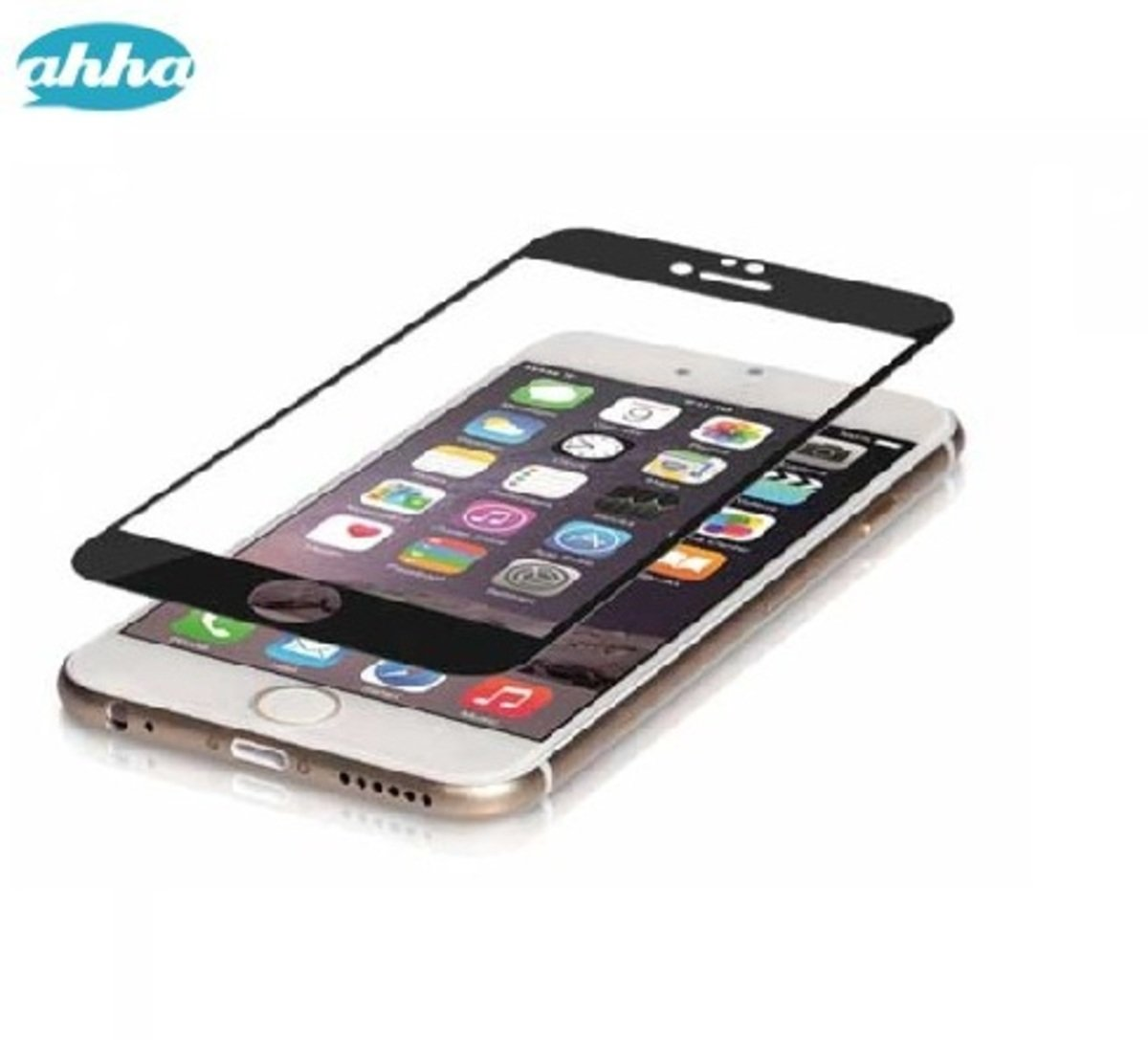 Colored Frame Tempered Glass iPhone6 Plus - Black